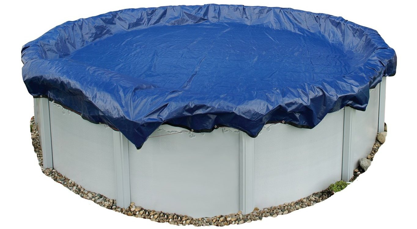 blue wave round above ground pool winter cover
