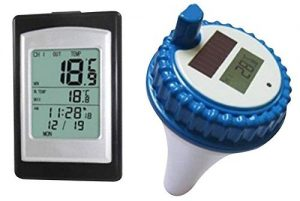 finerplan wireless solar power floating pool thermometer